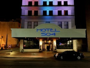 Custom reverse back-lit channel letters with multi-color, changeable LED's, operated by radio frequency remote control.