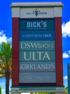 Sign Installation at Mall of Louisiana in Baton Rouge LA