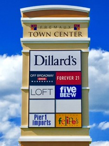 Local Sign Installation at Fremaux Town Center in Slidell LA