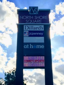 Local Sign Installation at North Shore Square Shopping Center in Slidell Louisiana