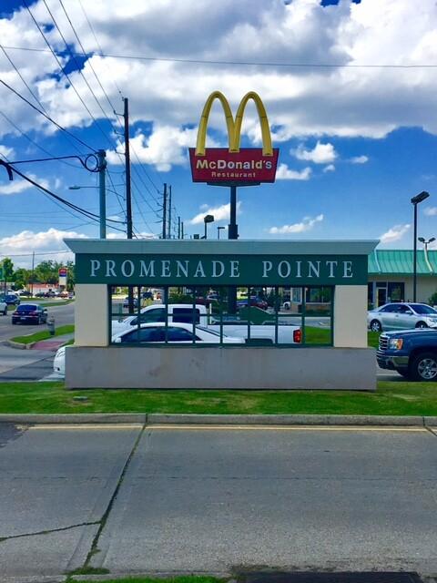 Promenade Pointe store front sign in Marrero Louisiana