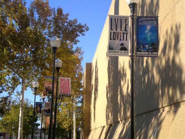 Boulevard banners Metairie Louisiana made for Lyle Lovett show