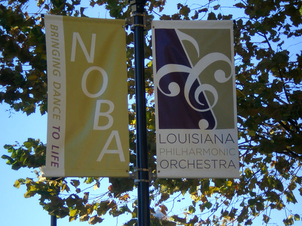Boulevard banners made in New Orleans
