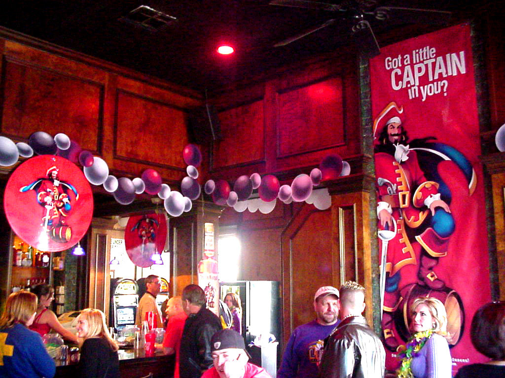 Captain Morgan banners made and installed for party