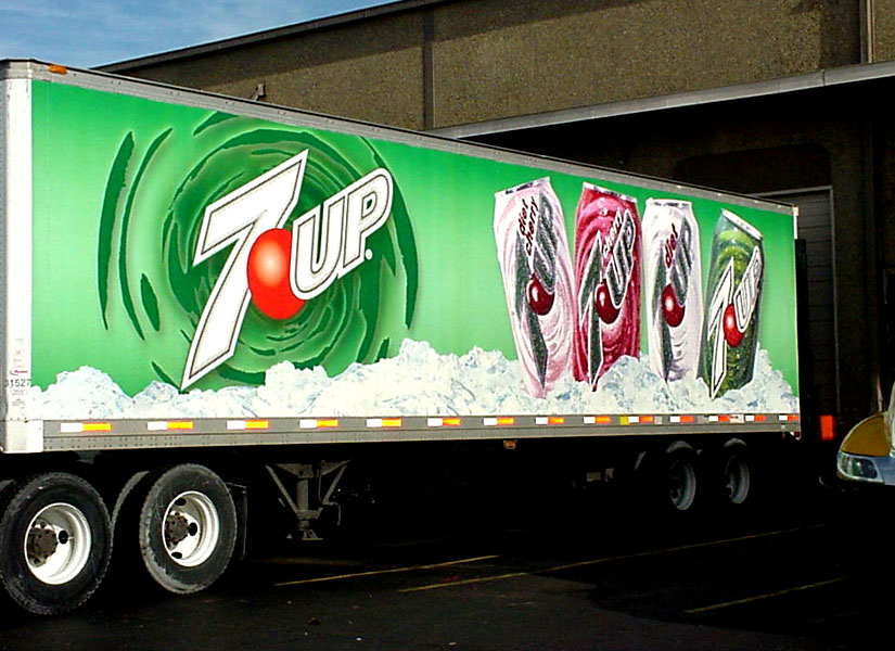 Vehicle graphics made and installed for 7 Up truck