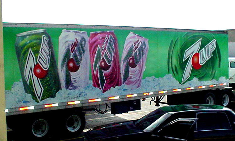 Vehicle graphics made for 7-up truck in Metairie