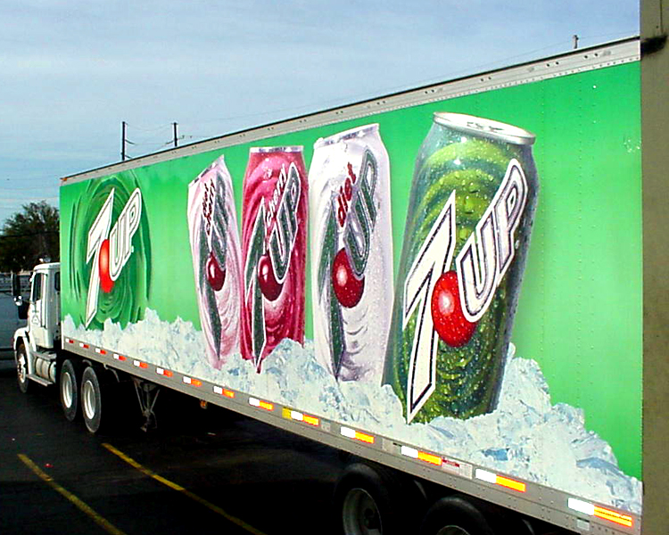 Vehicle wrap made for 7-up truck in Metairie