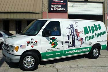 Van lettering Metairie for Alpha Fitness