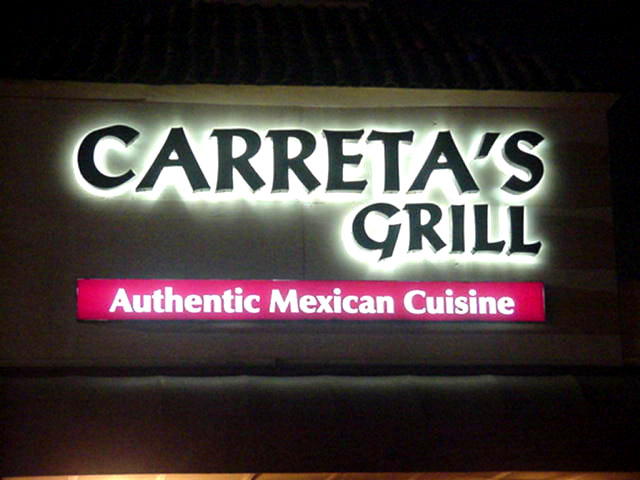 Sign installed Metairie channel letter sign for Caretta's Grill