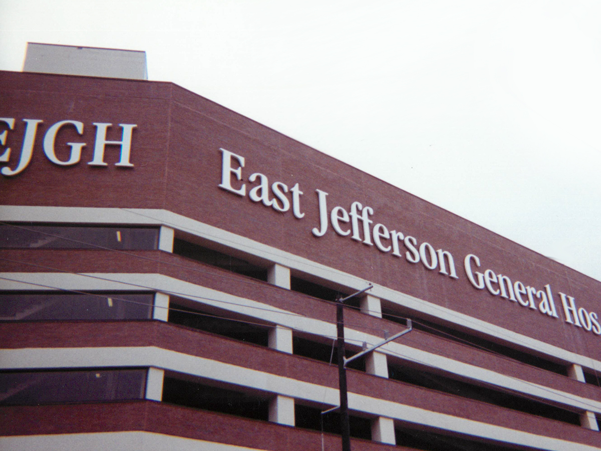 Sign for East Jefferson General Hospital