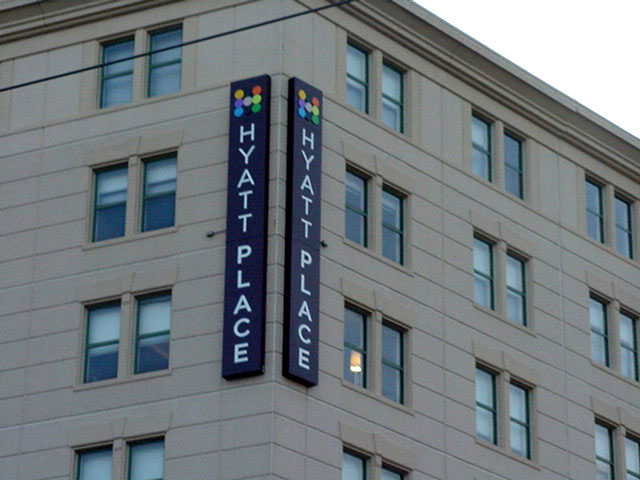 Historical signs installed in New Orleans for Hyatt Place