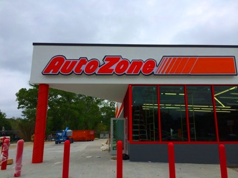 Install sign Slidell Louisiana channel letter sign for Auto Zone