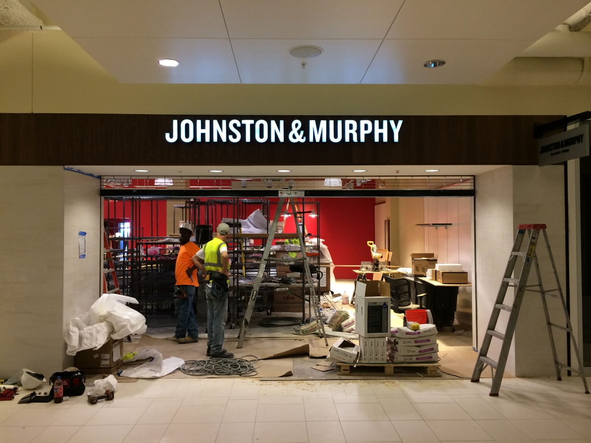 Sign installed New Orleans Louisiana Johnston and Murphy