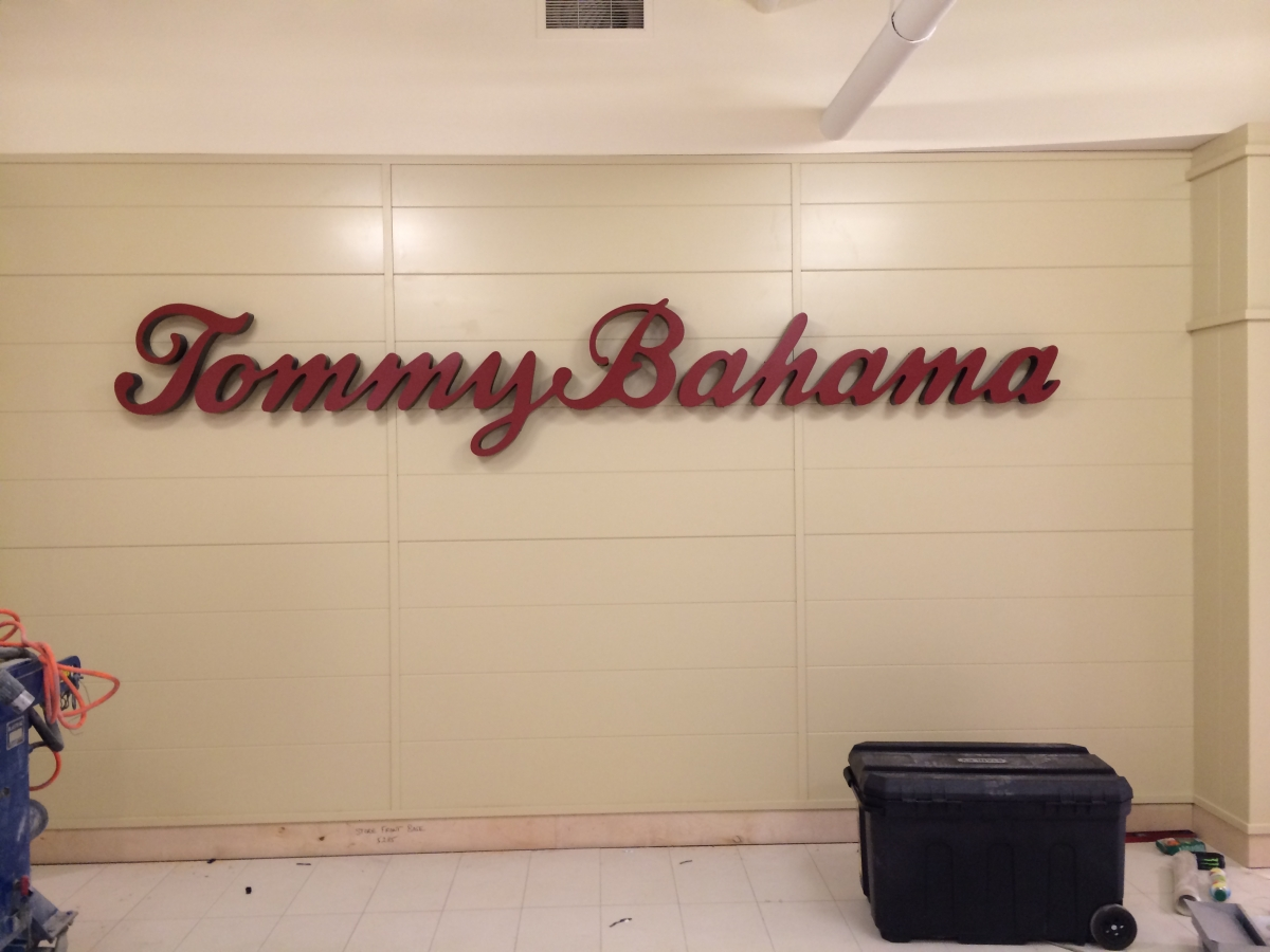 Sign installation New Orleans for Tommy Bahama