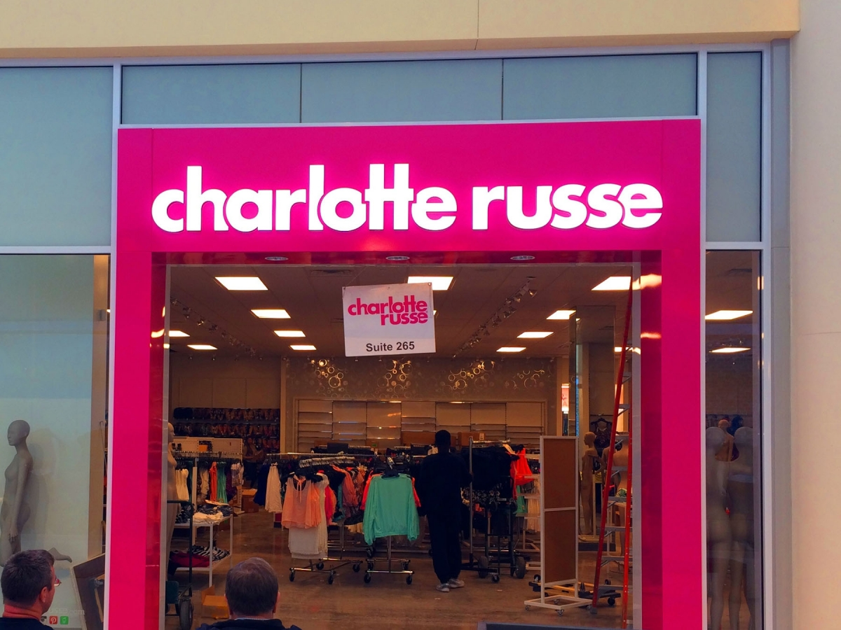 Sign install in New Orleans for Charlotte Russe
