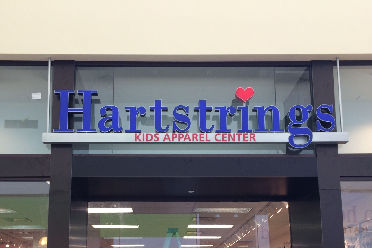 Install channel letter signs New Orleans Louisiana for Hartstrings