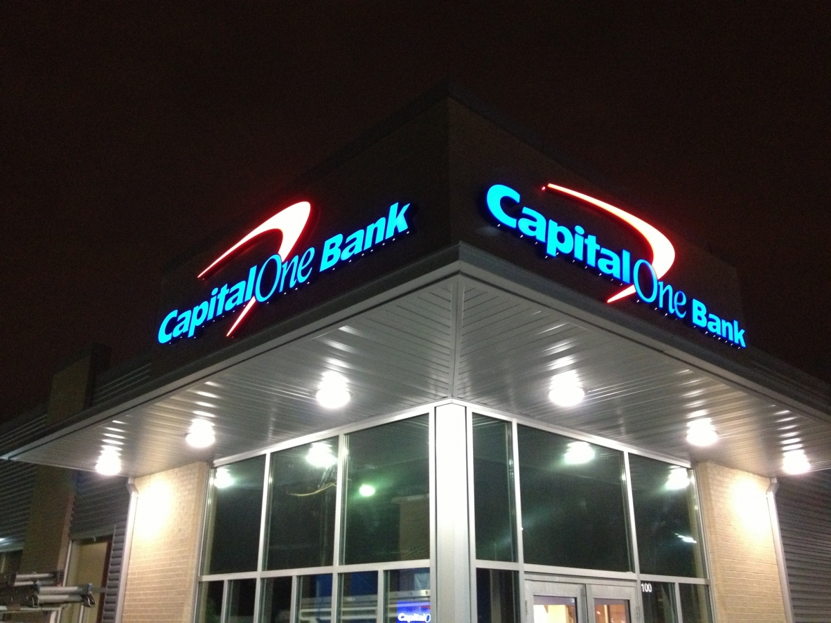 Signs made and installed New Orleans Louisiana Capital One Bank