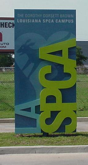 Install sign for New Orleans based LASPCA
