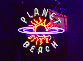 Neon sign made in Metairie for Planet Beach