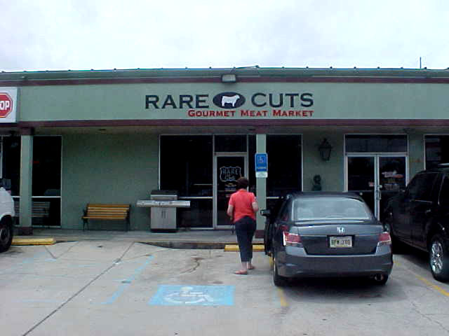 Sign installation Mandeville dimensional lettering for Rare Cuts