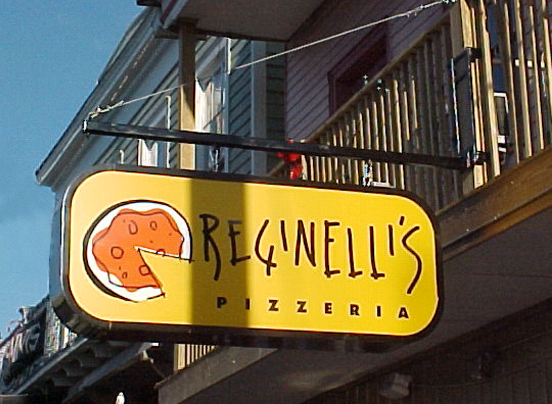 Sign in New Orleans made for Reginellis Pizzeria