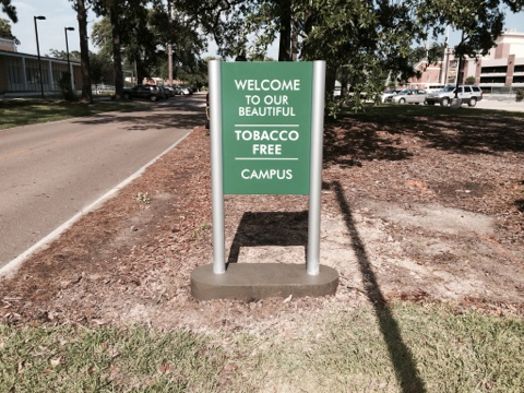 Sign installed in Hammond for Southeastern Louisiana University campus