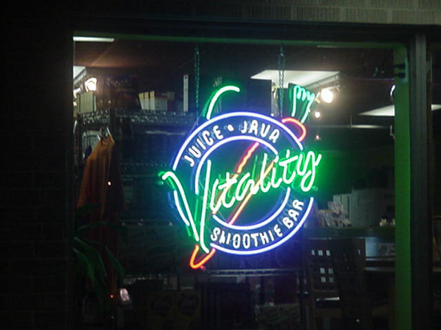 Neon sign repaired Metairie based company Vitality Smoothie Bar