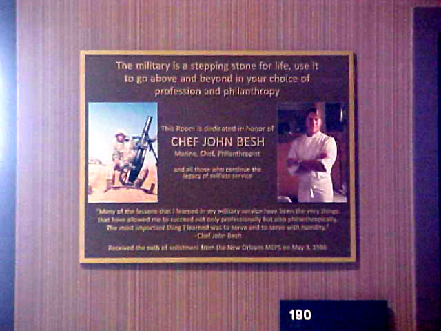 Bronze plaque made in New Orleans for Chef John Besh