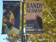 Mahalia Jackson boulevard banners made for Randy Newman show