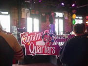 Install signs New Orleans for Captain Morgan on Bourbon Street