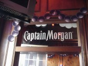 Mardi Gras promotional signs made for Captain Morga