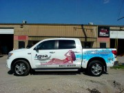 Custom vehicle graphics made and installed for Aqua Pool in Metairie