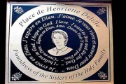 Bronze plaque made and installed in New Orleans Louisiana for Henriette Delille