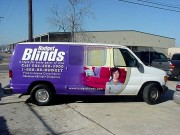Installation of vehicle wrap in Metairie Louisiana for Budget Blinds