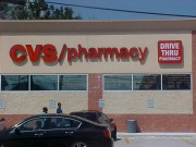 Channel letter sign for CVS New Orleans Louisiana