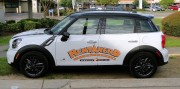 Install vinyl graphics on Rent A Nerd service vehicle