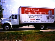 Vehicle graphics installed in Harahan Louisiana for Gulf Coast Office Products