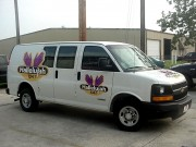 Installation of vehicle graphics in Harahan for Hallelujah van