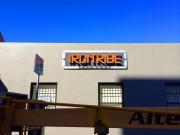 Sign made New Orleans channel letters for Irontribe Fitness