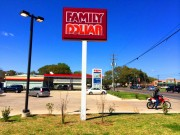 Sign serviced in Baton Rouge for Family Dollar pole sign