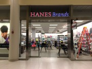 Installed channel letter signs for Hanes Brand New Orleans