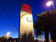 Install sign Houma Louisiana for oversized Toyota freestanding sign