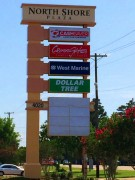 Multi-tenant sign installed in Slidell Louisiana for Northshore Plaza
