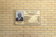 Cast bronze plaque custom made for James Simmons Metairie