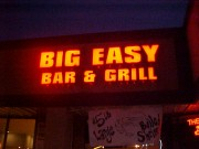 Channel letter install Harahan LA for Big Easy Bar and Grill