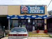 Backlit awning made and installed in Metairie for Ben and Jerrys Ice Cream