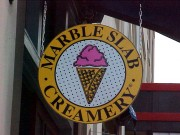 Install signs Metairie for Marble Slab Creamery undercanopy sign