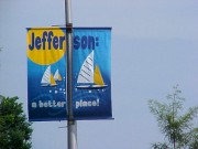 Street pole banners Marrero for Jefferson A Better Place campaign