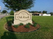 Monument sign made and installed Marrero Louisiana for Oak Knoll subdivision