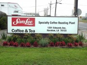 Sign installation in Harahan for Sara Lee foods